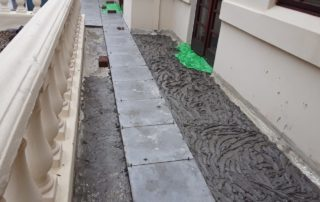 During the Tiling and Waterproofing Process